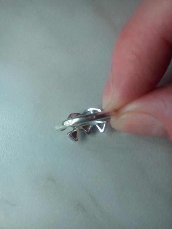 кольцо клевер трехлистный