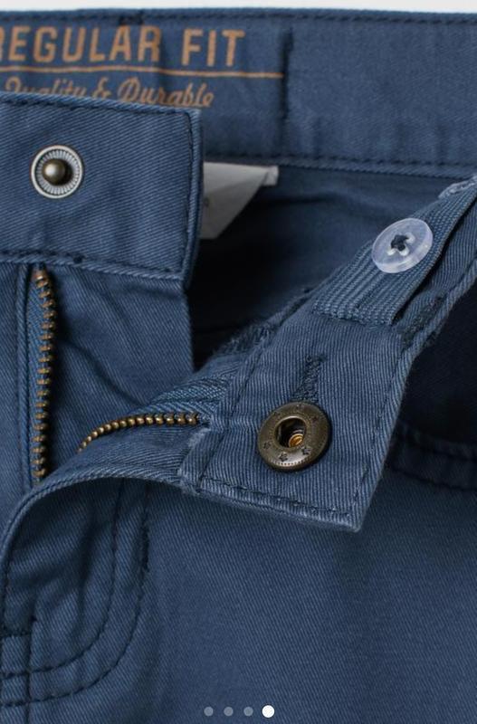 Твиловые брюки   h&m - Фото 4