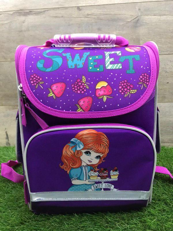 Школьный рюкзак для девочки ортопедический каркасный (sweet)