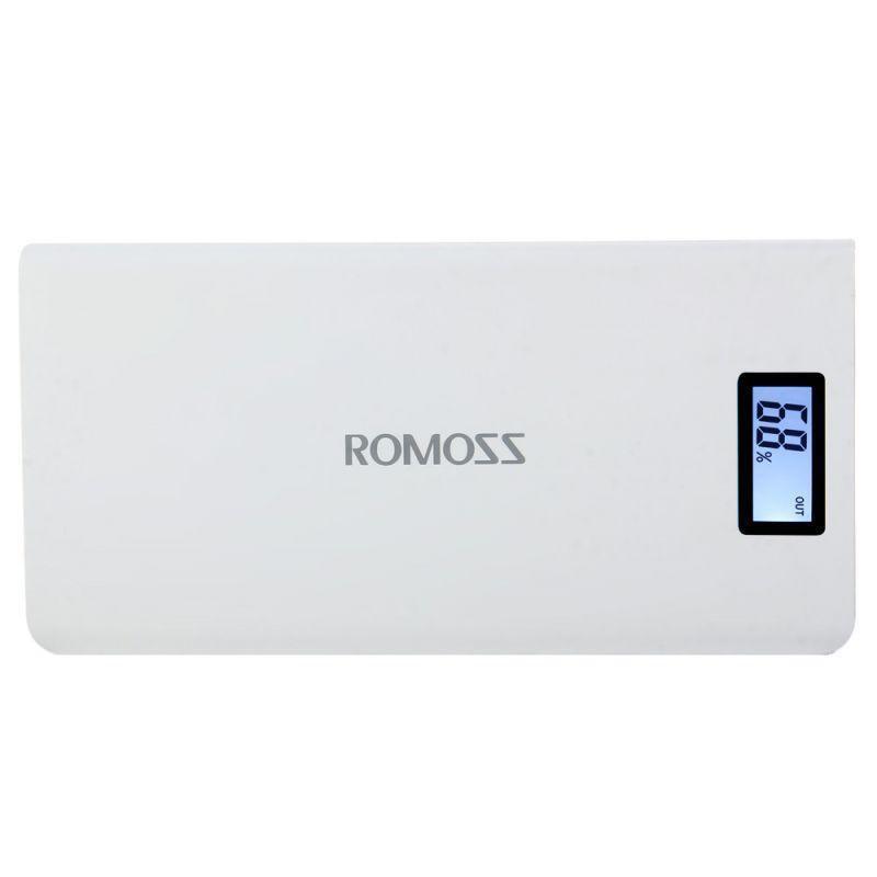 Power Bank Romoss LCD 50000mAh Sense 6 PLUS 2USB - Фото 3