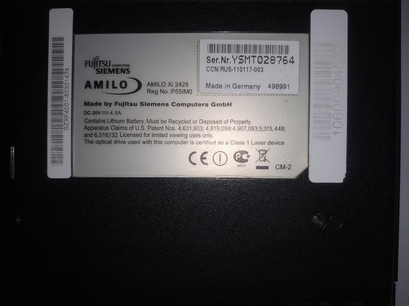 Ноутбук Fujitsu-Siemens AMILO Xi 2428 на запчасти