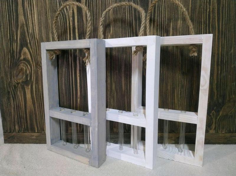 Декоративная рамка для цветов на 3 колбы - Фото 4