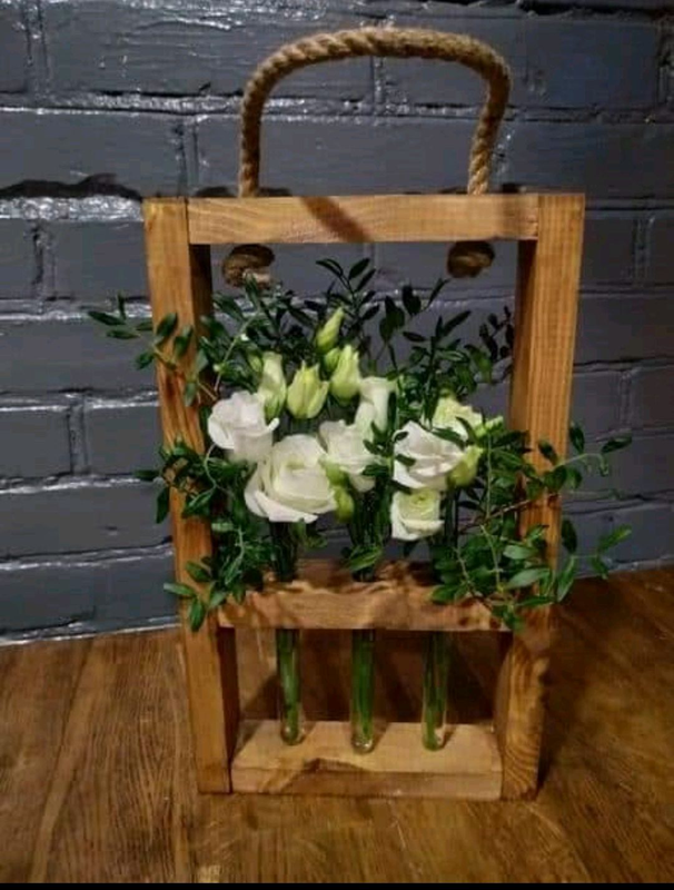 Декоративная рамка для цветов на 3 колбы - Фото 6