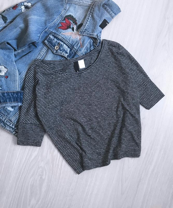 Топ футболка в полоску h&m