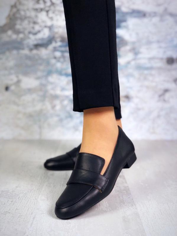 Люксовые кожаные туфли балетки лоферы