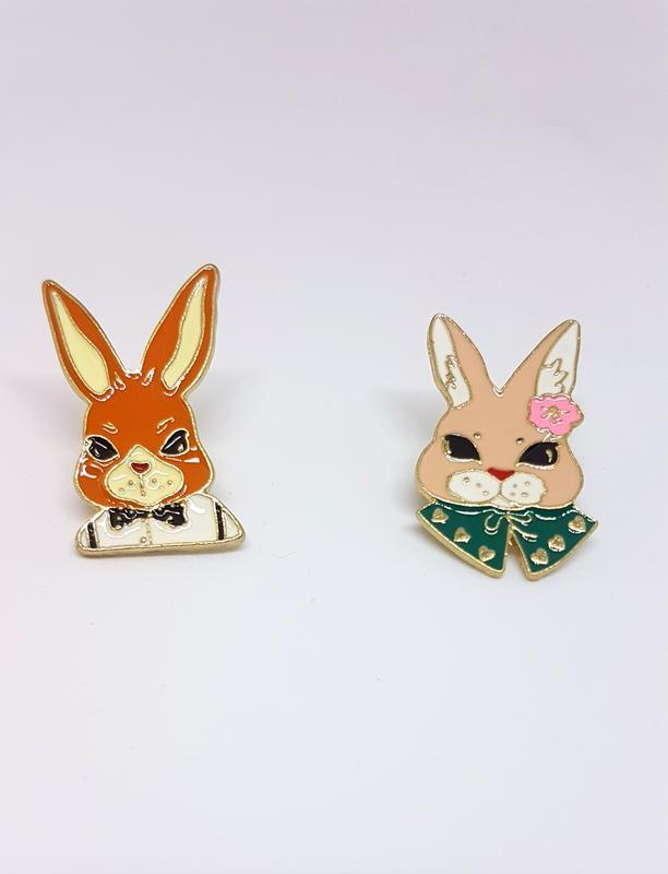 Набор пинов / значков / броши кролики - Фото 2