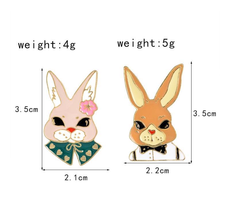Набор пинов / значков / броши кролики - Фото 4