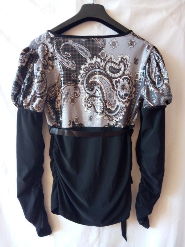 Осіння блуза з довгим рукавом - Фото 2