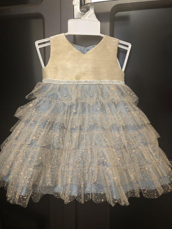 """Очень шикарное нарядное платье для девочки. бренд """"monsoon """" р..."""