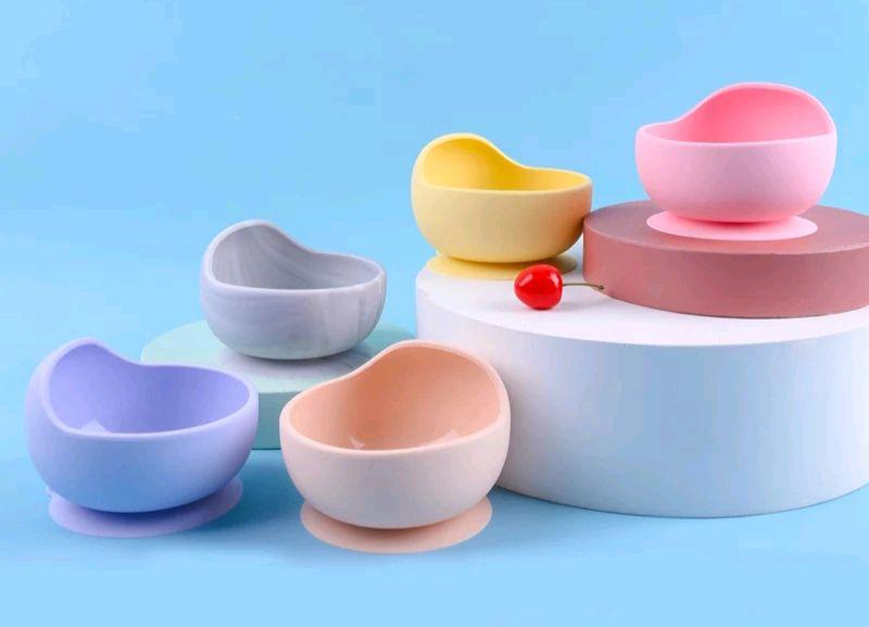 Силиконовые тарелочки,  мисочки, деткая посуда,  посуда для детей