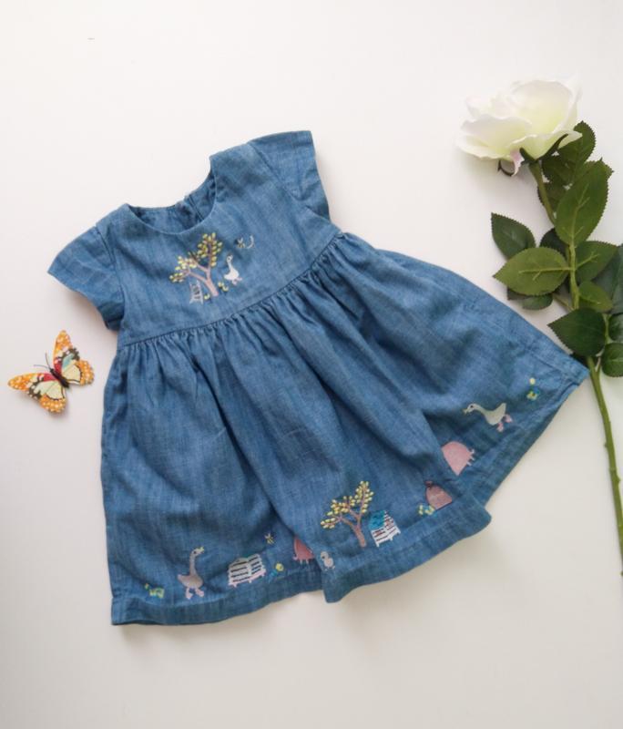 Джинсовое платье джинсова сукня 3-6 мес m&s