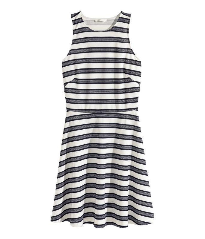 H&m стильное платье, всегда актуальная полоска