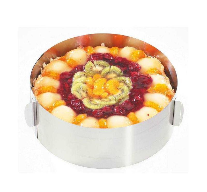 Раздвижное кондитерское кольцо диаметр 15-30см