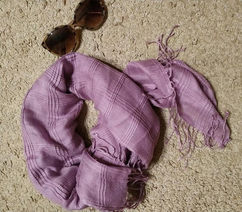 Pieces accessories стильний шарф/ платок врельефную клетку с б...