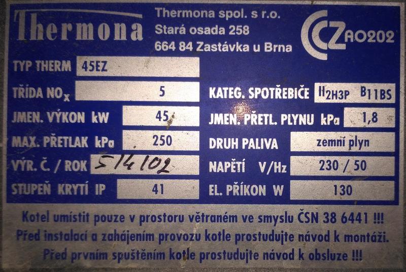 Продам газовый котел Thermona