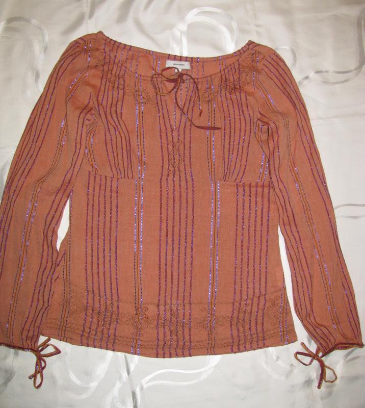 Vero moda котоновая блузка с вышивкой  m-l