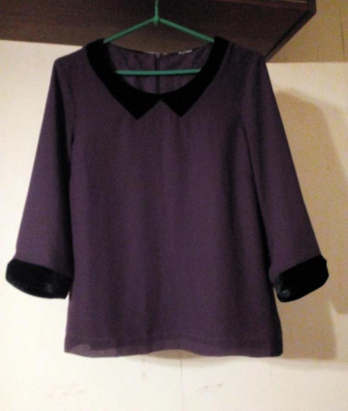 Vero moda трендовая шифоновая блуза с бархатными деталями