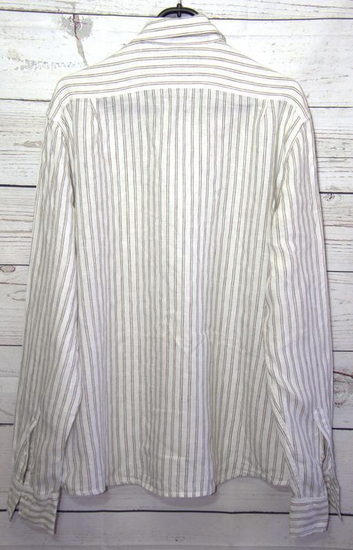 Льняная мужская  рубашка от h&m - Фото 3