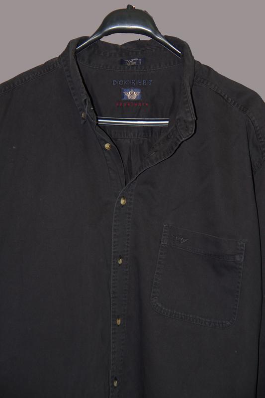 Крутая и стильная котоновая мужская рубашка long sleeve docker... - Фото 2