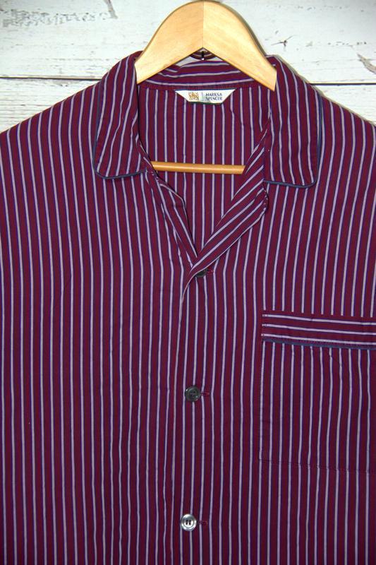 Мужская пижамная рубашка из 100 % коттона большего размера - Фото 2