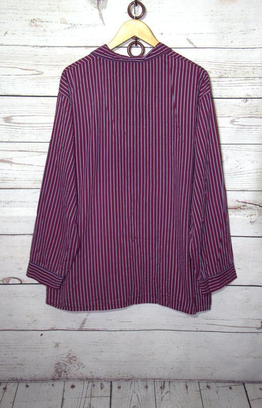 Мужская пижамная рубашка из 100 % коттона большего размера - Фото 3