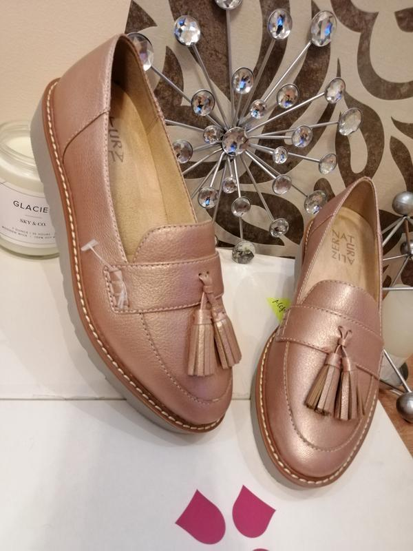 Стильные туфли лоферы мокасины naturalizer