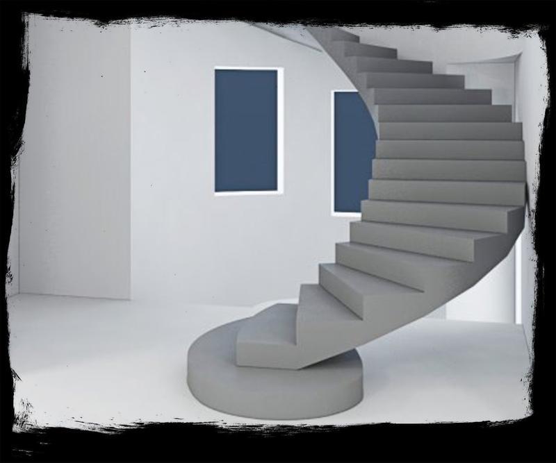 Лестница из Бетона под ключ • Бетонная монолитная лестница • - Фото 4