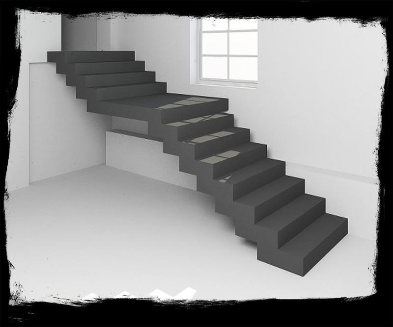 Лестница из Бетона под ключ • Бетонная монолитная лестница •