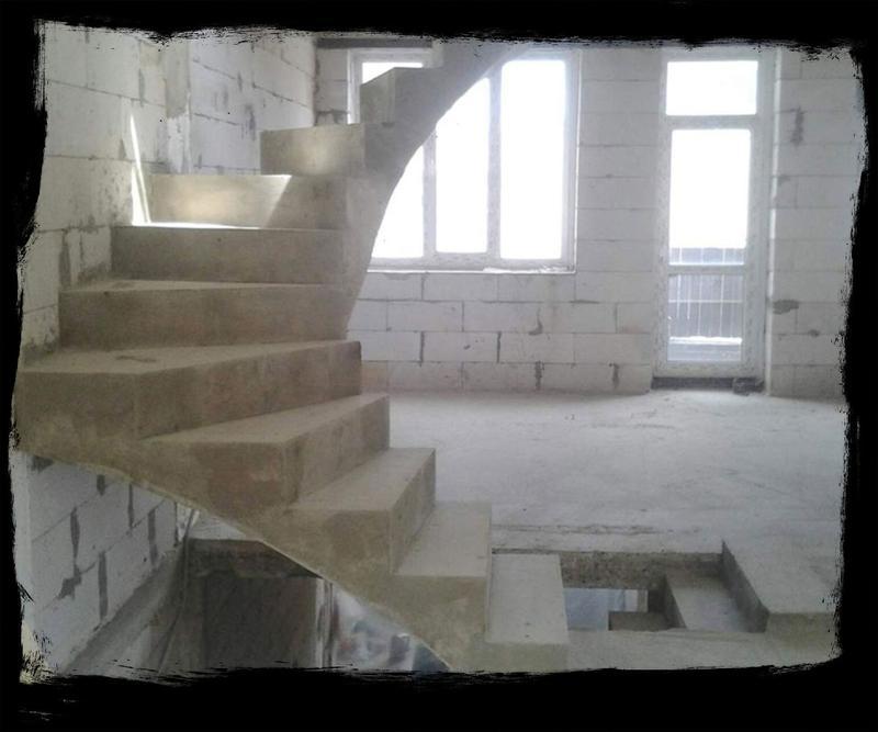 Лестница из Бетона под ключ • Бетонная монолитная лестница • - Фото 2