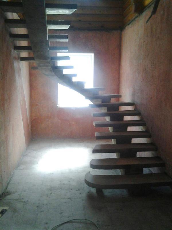 Лестница из Бетона под ключ • Бетонная монолитная лестница • - Фото 6