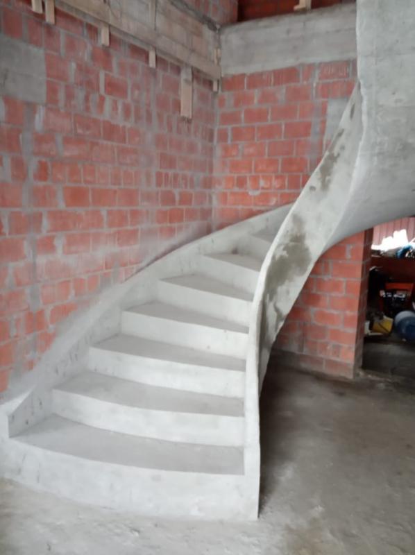 Лестница из Бетона под ключ • Бетонная монолитная лестница • - Фото 8
