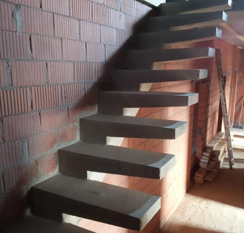 Лестница из Бетона под ключ • Бетонная монолитная лестница • - Фото 9