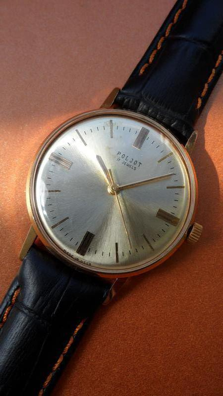 «ПОЛЁТ 2609» ПОЗОЛОТА AU_20, часы мужские из СССР 70-х. механика - Фото 8