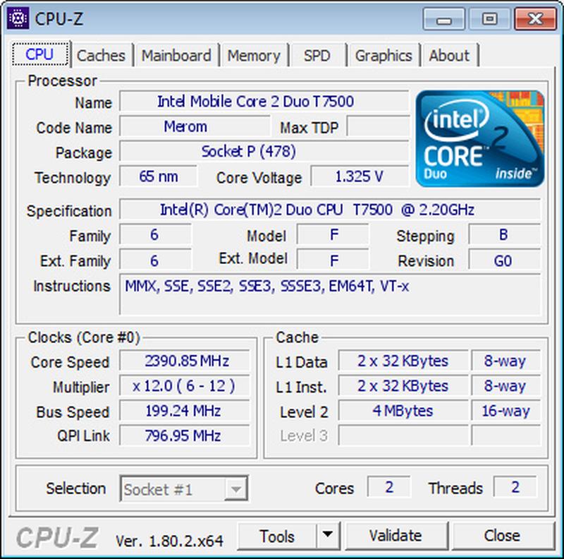Процессор Intel Core 2 Duo T7500 (2.20 GHz) + термопаста - Фото 2