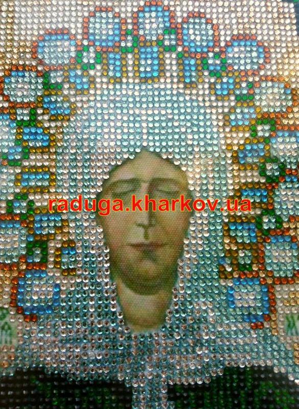 Алмазная вышивка,Матрона,икона,образ,лик,рамка,готовая работа