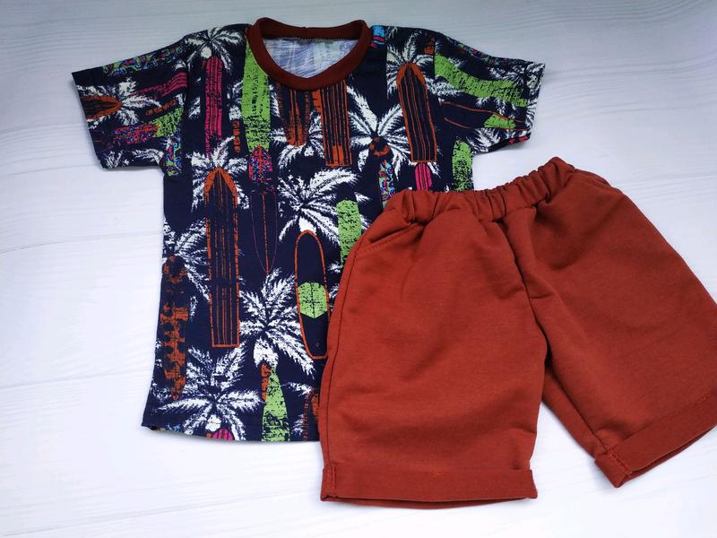 Летний костюм для мальчика, футболка и шорты / летняя распродажа