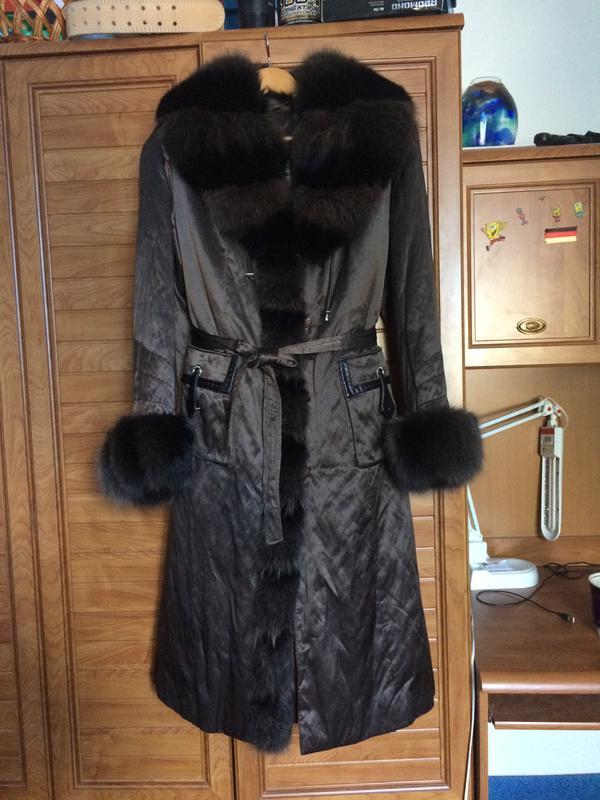 Зимове пальто з натуральним хутром!