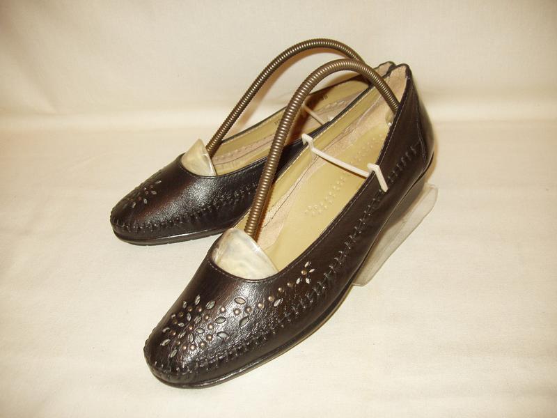 Туфли-мокасины * pavers * england. kожа. р. 39. - Фото 3