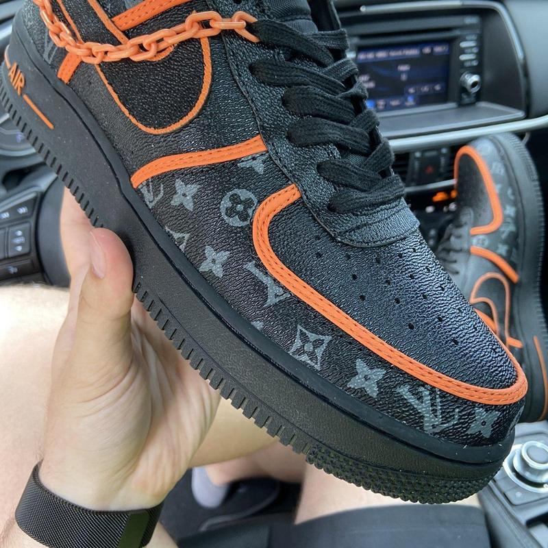 Nike air force 1 low black orange x louis vuitton. - Фото 2