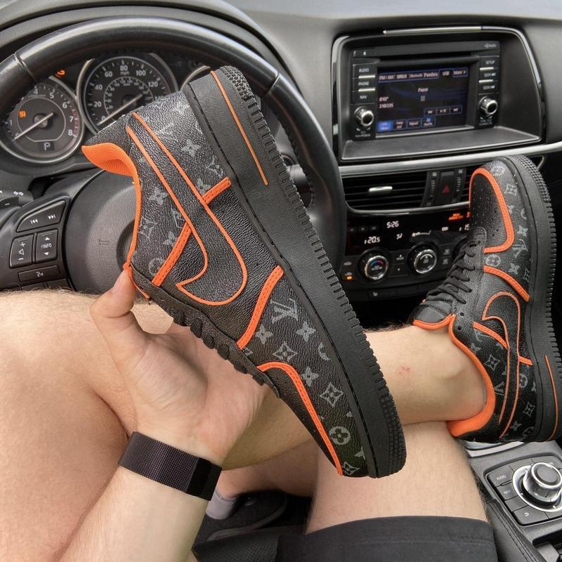 Nike air force 1 low black orange x louis vuitton. - Фото 5