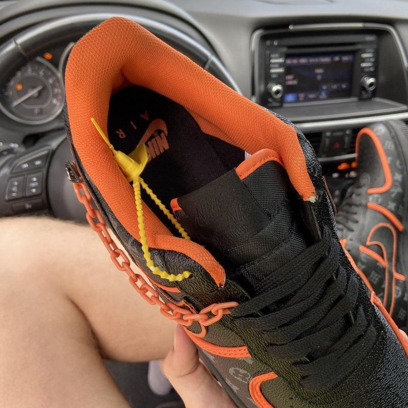 Nike air force 1 low black orange x louis vuitton. - Фото 6