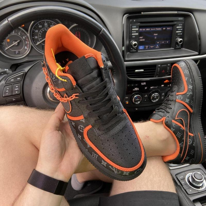 Nike air force 1 low black orange x louis vuitton. - Фото 8