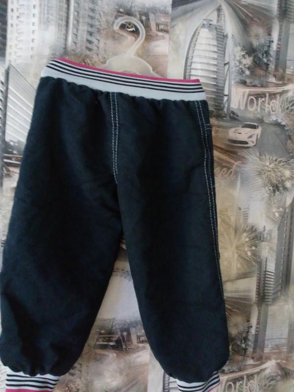 Джинсовые штанишки утепленные - Фото 2