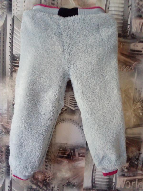 Джинсовые штанишки утепленные - Фото 3