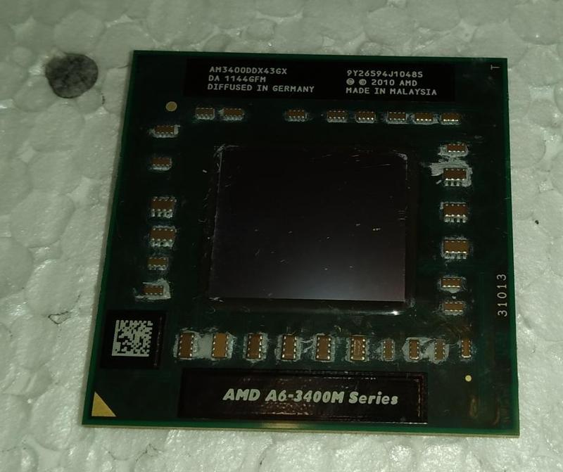Процесор ноутбука HP Pavilion G6 AMD A6-3400M 4 ядра, 1.4-1.6Ггц