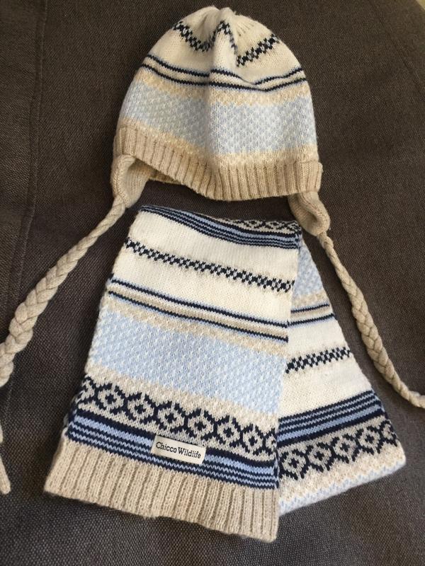 Комплект шапка и шарф 9-12 м 44-46