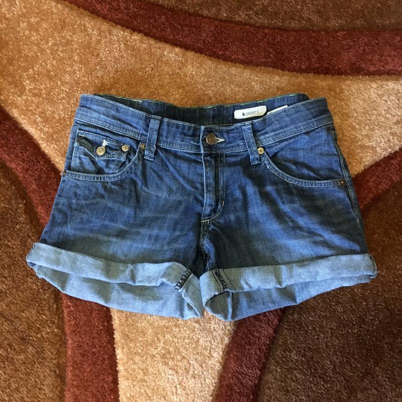 Шорты джинсовые короткие - Фото 2