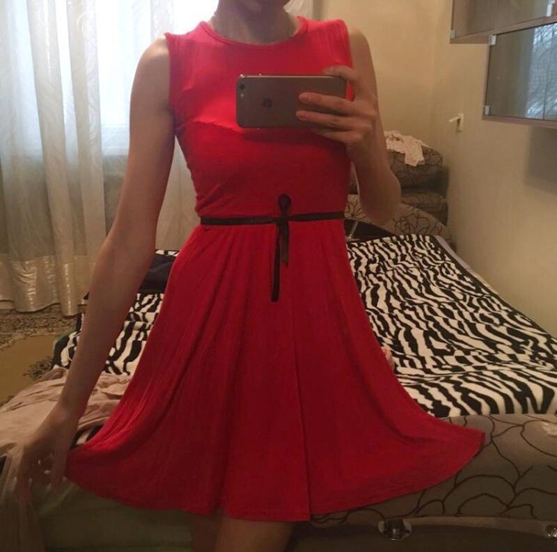 Сарафан платье красное короткое платьице