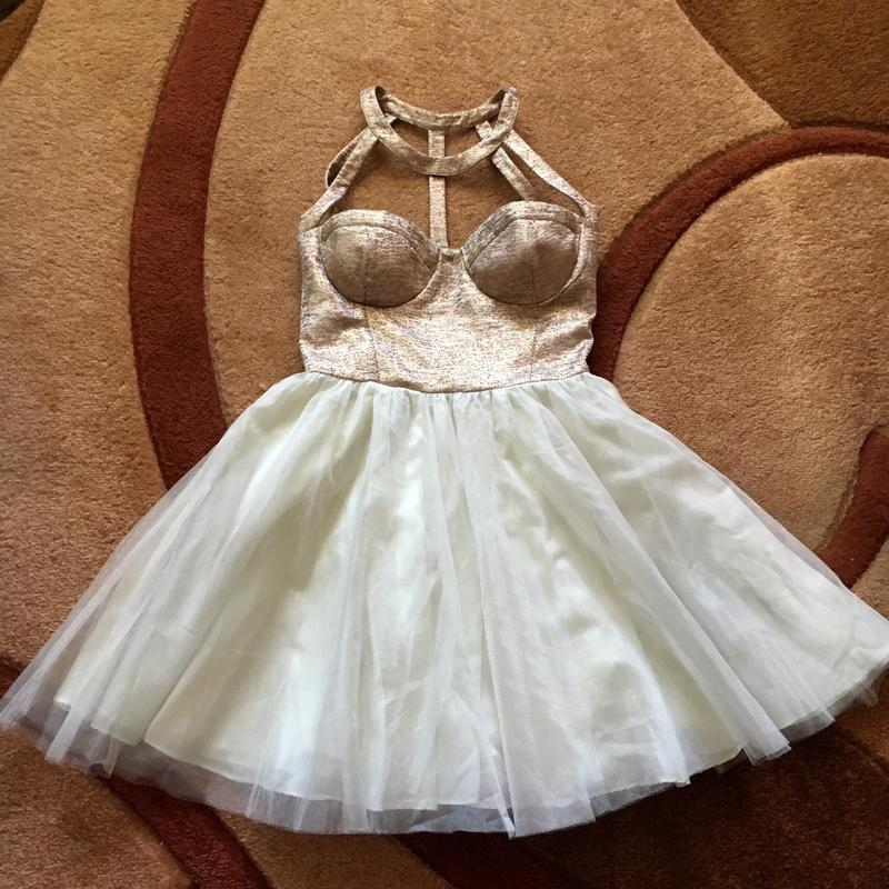Платье платьице с корсетом пышное короткое/миди фатиновая юбка