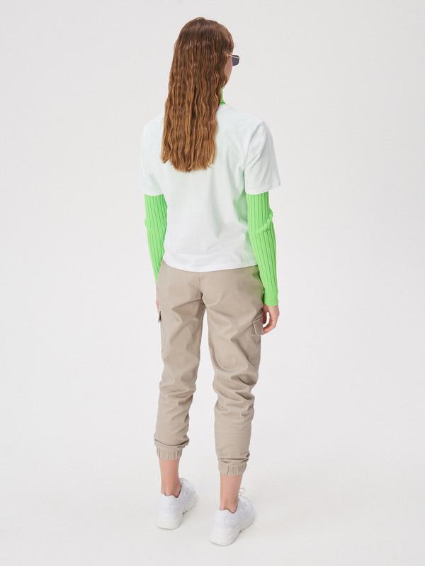 Новая широкая белая футболка польша принт надпись you glow gir... - Фото 3
